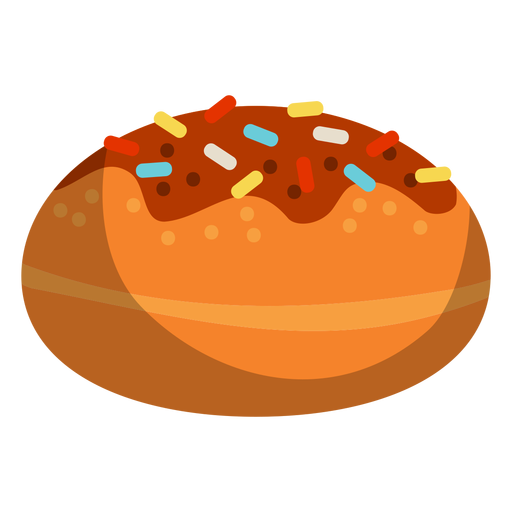 Chocolate glazed donut Transparent PNG