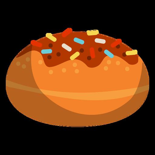 Donut glaseado de chocolate Transparent PNG