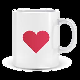 Caneca de café com ícone de coração