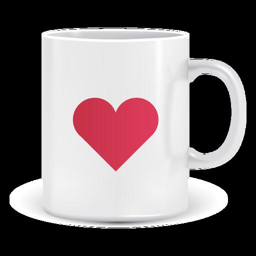 Caneca de café com ícone de coração Transparent PNG