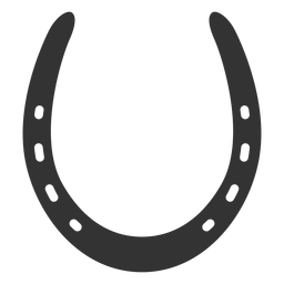 Common horseshoe silhouette