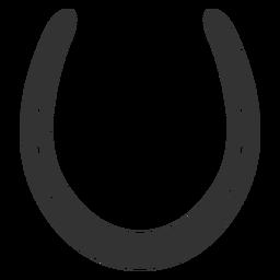 Silhueta de ferradura comum