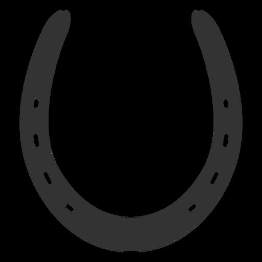 Common horseshoe silhouette Transparent PNG