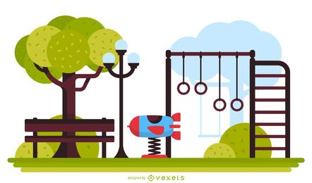 Park playground illustration