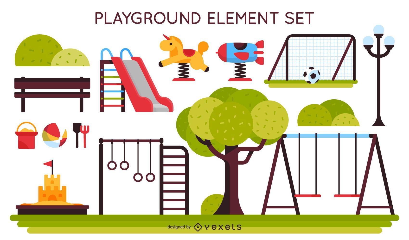 Kids playground element set
