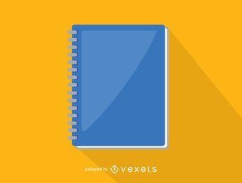 Ícone de caderno espiral do escritório