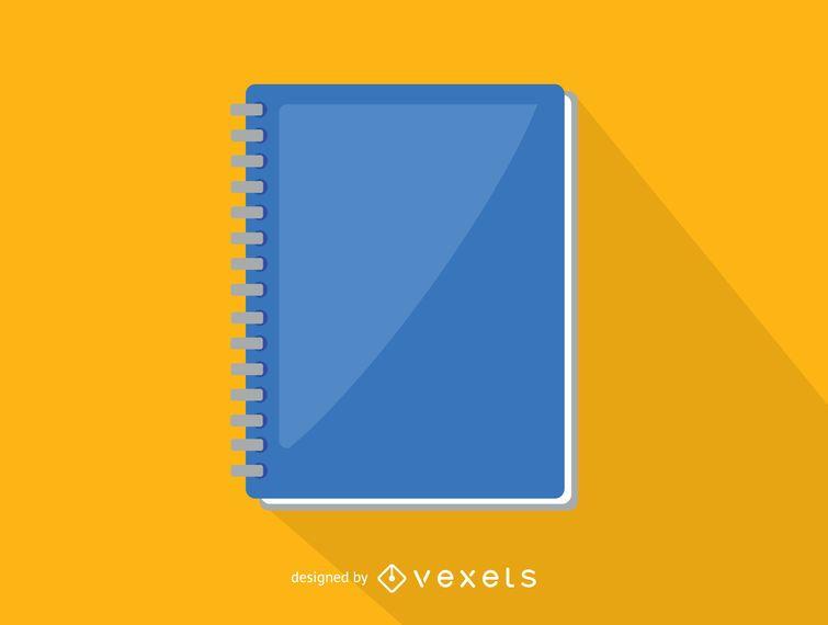 Icono de cuaderno de espiral de oficina