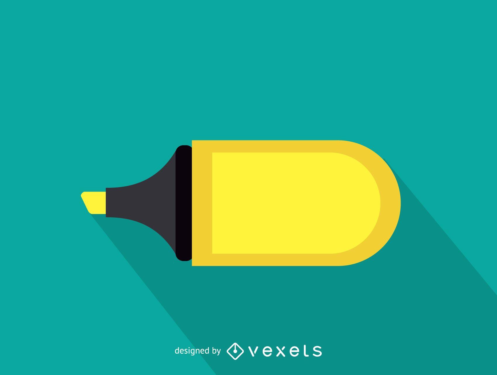 Ilustración de marcador de texto amarillo