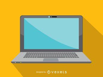 Ícone de computador portátil de escritório