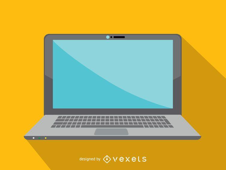 Icono del ordenador portátil de oficina