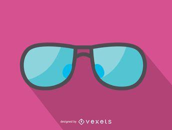 Luz azul, óculos de sol, ícone