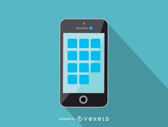 Ícone simples smartphone