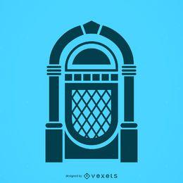 Ícone de silhueta de jukebox musical