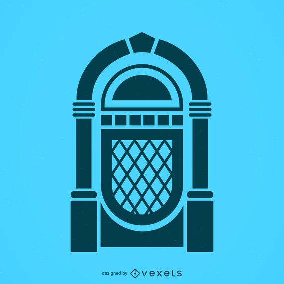 Ícone de silhueta jukebox musical
