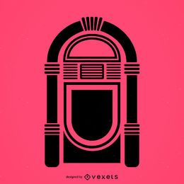 Musical jukebox flat icon