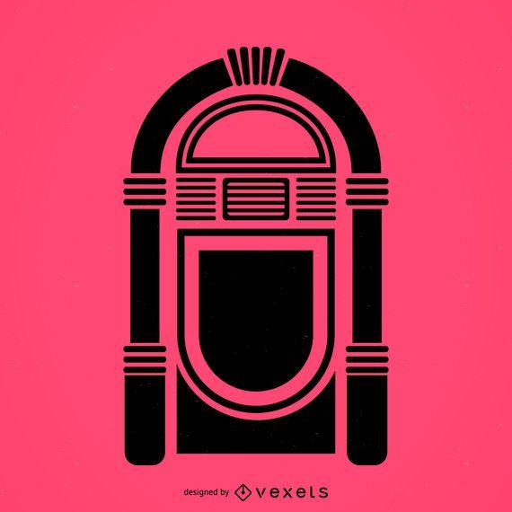 Ícone plana de jukebox musical