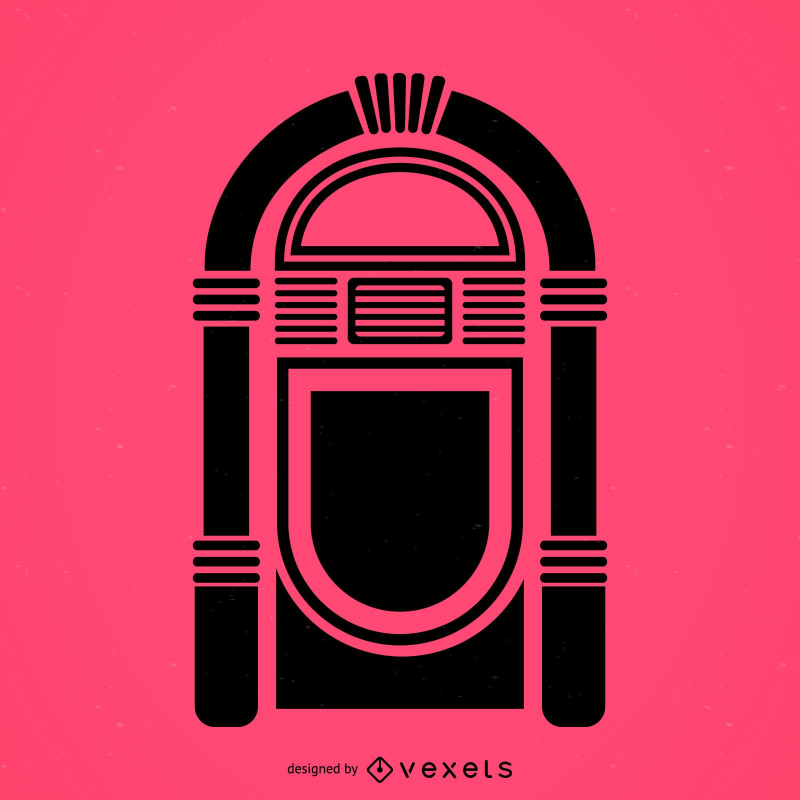 Musical jukebox flat icon