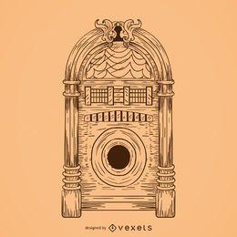 Desenho de jukebox musical
