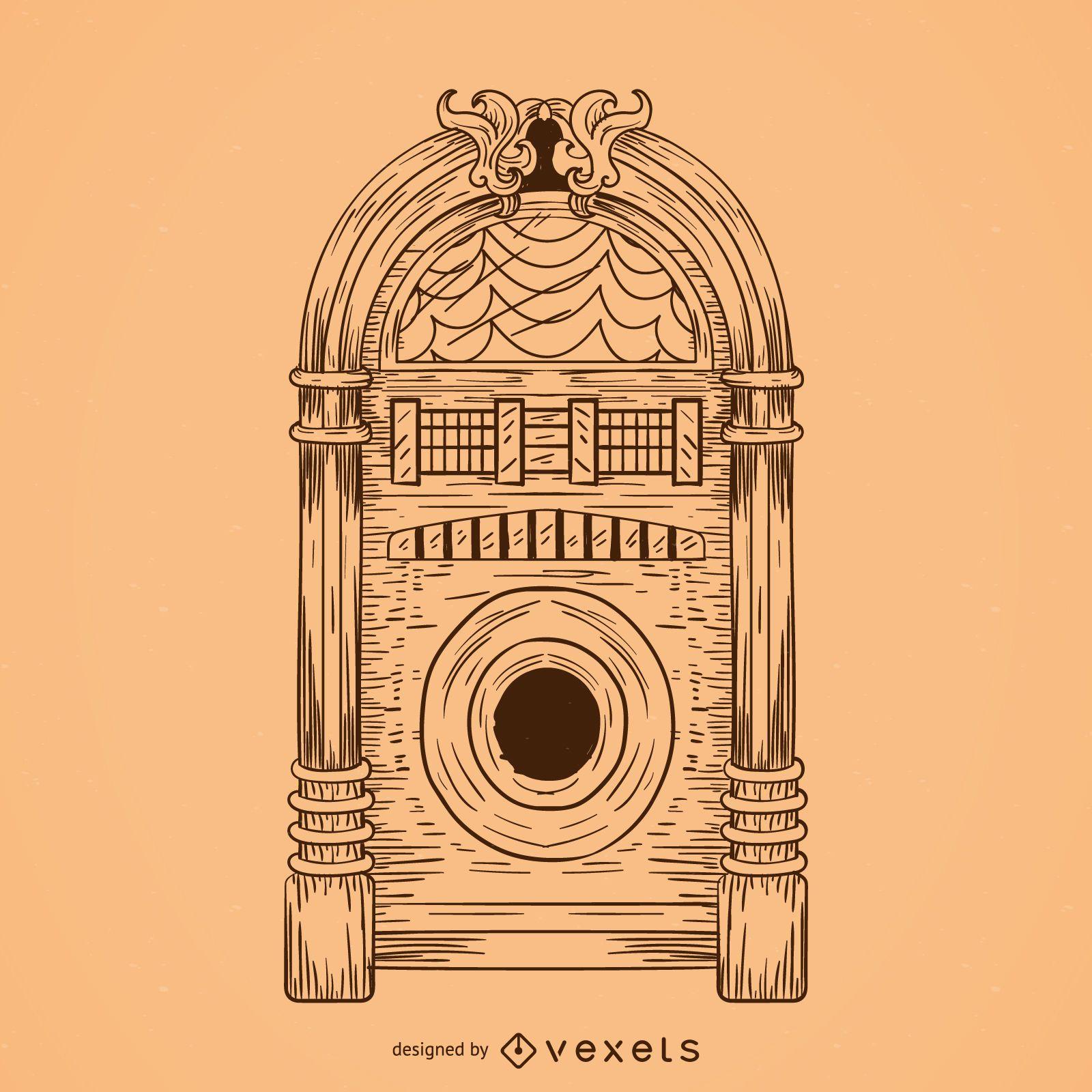 Dibujo de jukebox musical