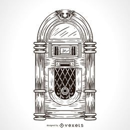 Desenho de jukebox de música