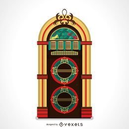 Beautiful vintage music jukebox illustration