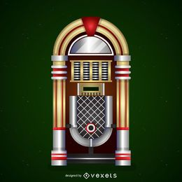 Vintage jukebox icon