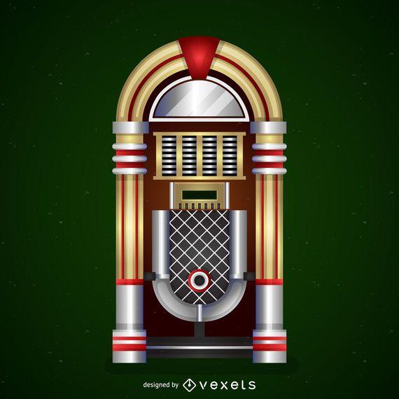 Icono de jukebox vintage