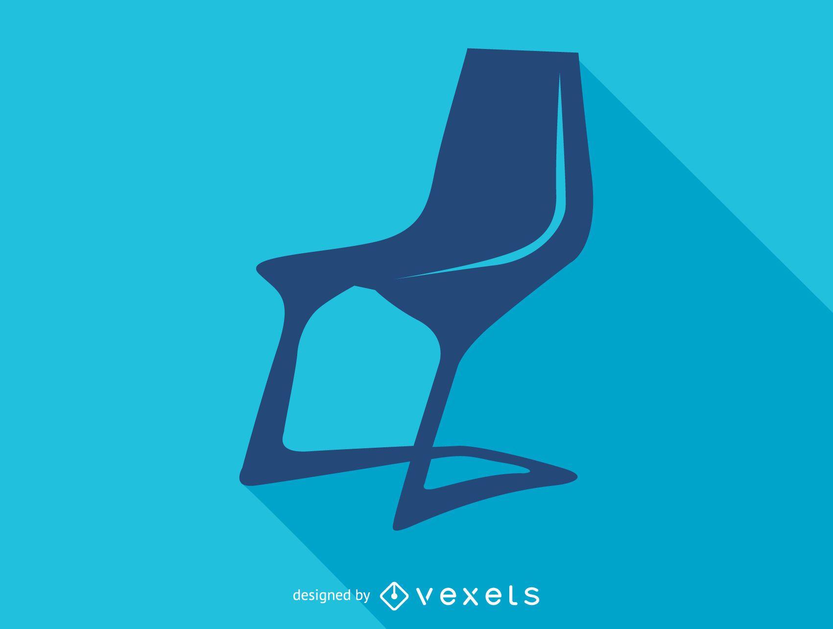 Icono de silueta de silla myto