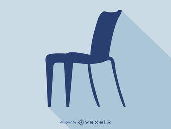 Icono de silueta de silla Philippe Starck