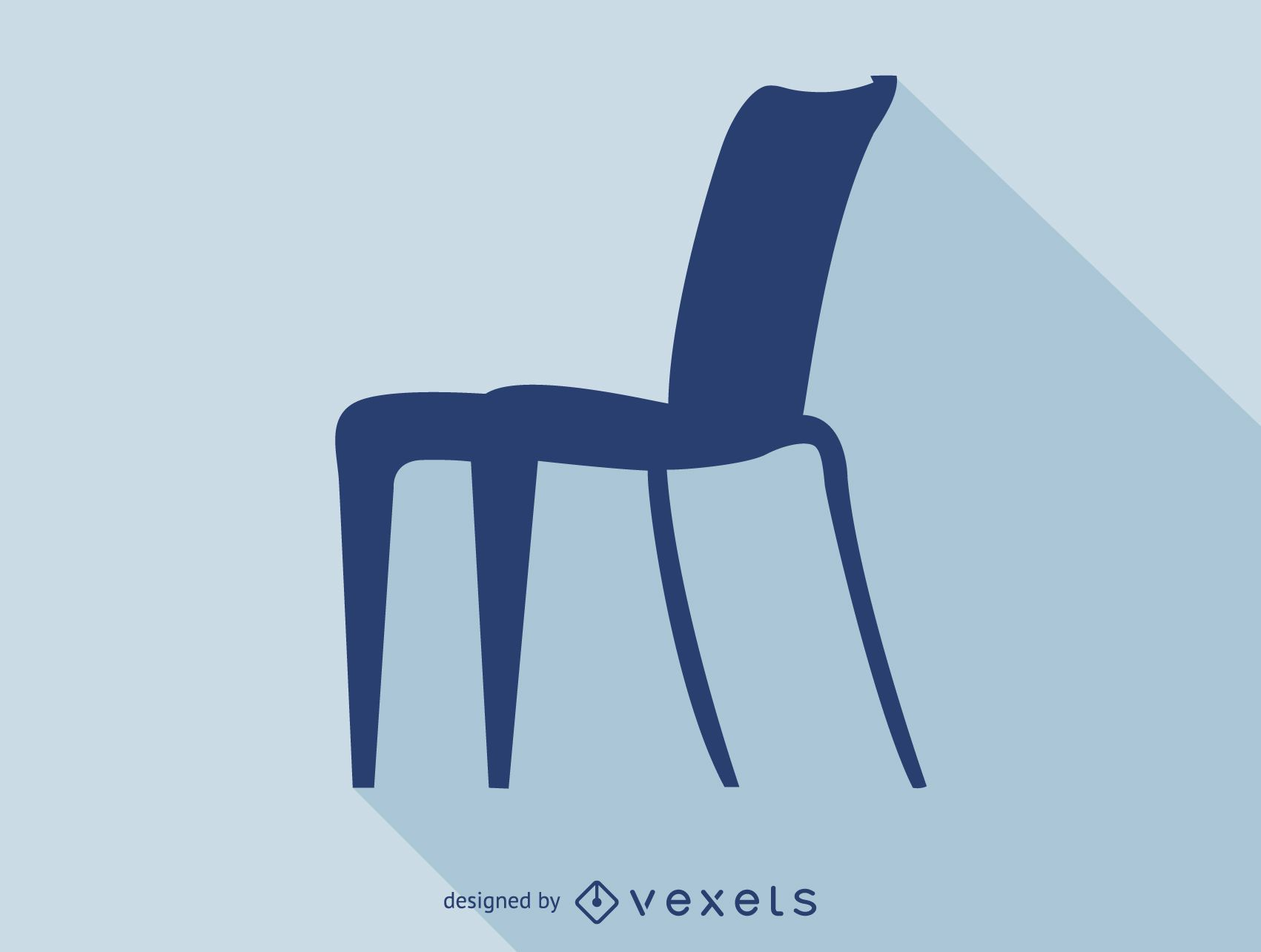 Icono de silueta de silla de Philippe Starck