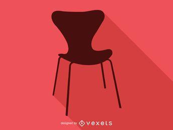 Ícone de silhueta de cadeira Arne Jacobsen