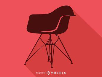 Silhueta de cadeira Charles Ray Eames