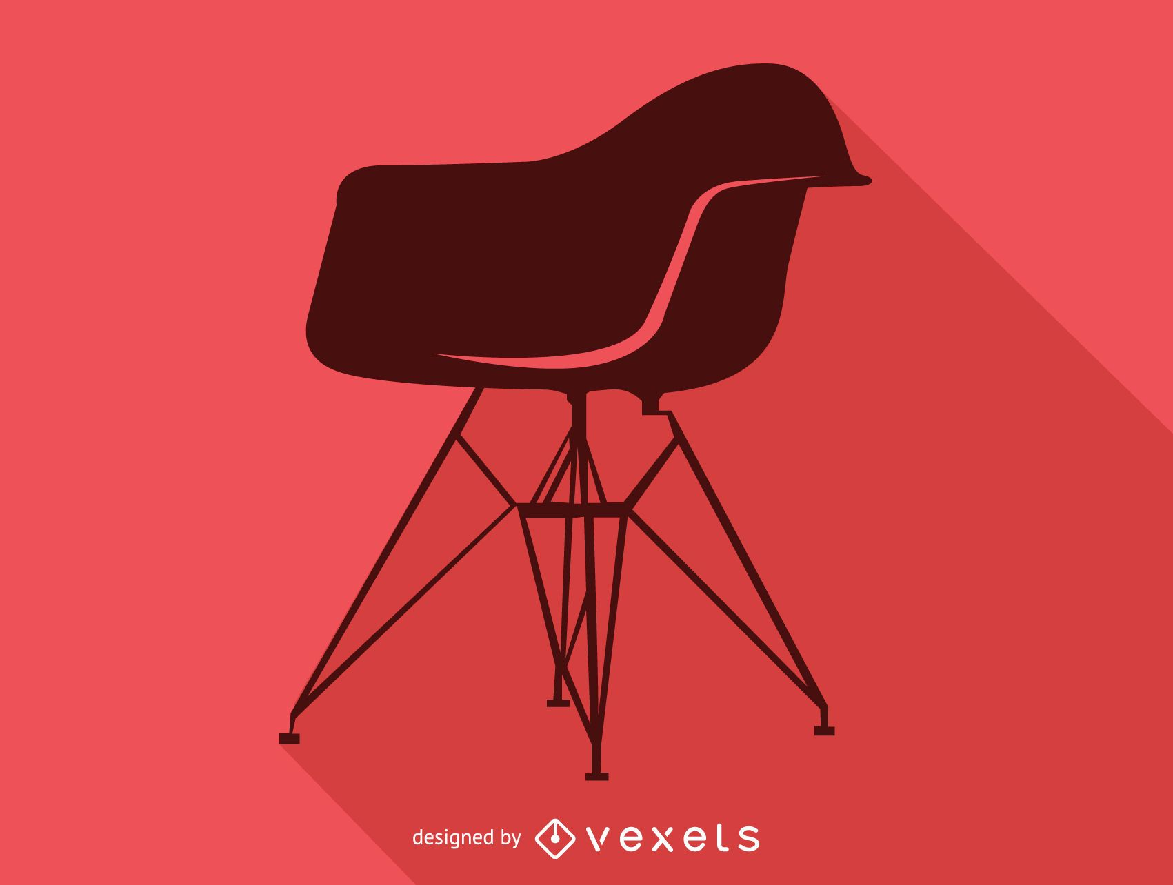 Silla Charles Ray Eames silueta