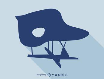 Silhueta de cadeira de Chaise Eames