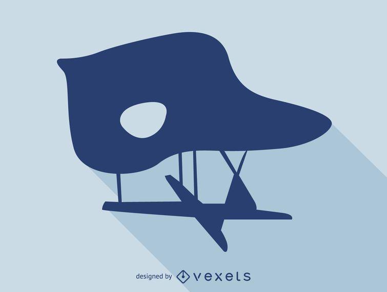 La Chaise Eames chair silhouette