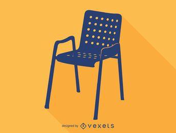 Silhueta da cadeira de Hans Koray Landi
