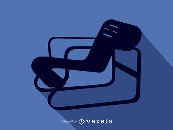 Silhueta de cadeira Alvaro Aalto Paimio