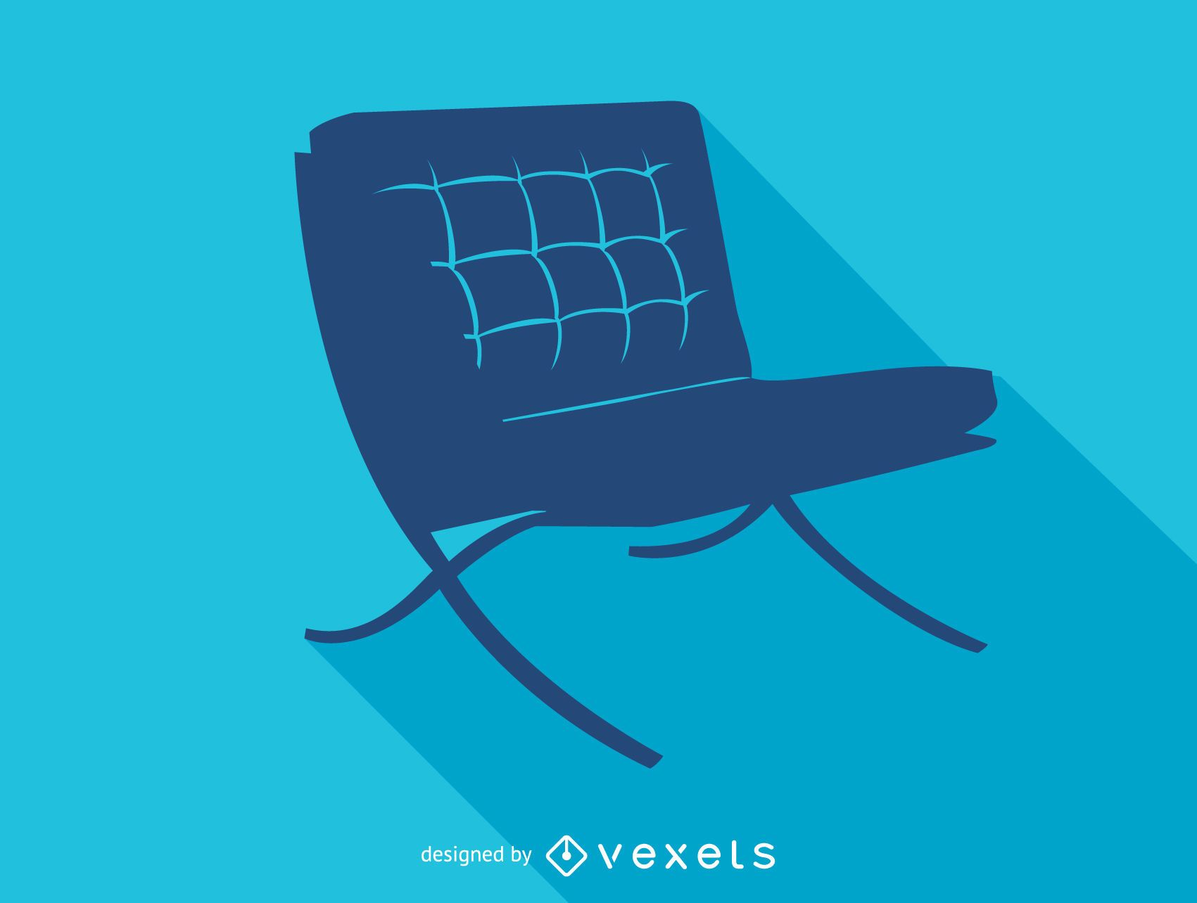 Barcelona chair silhouette icon