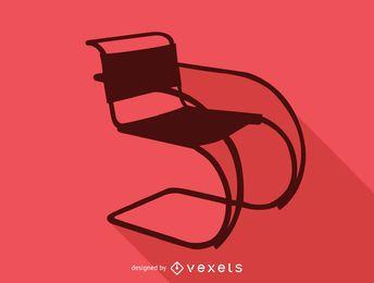 mr 20 silhueta de cadeira cantilever