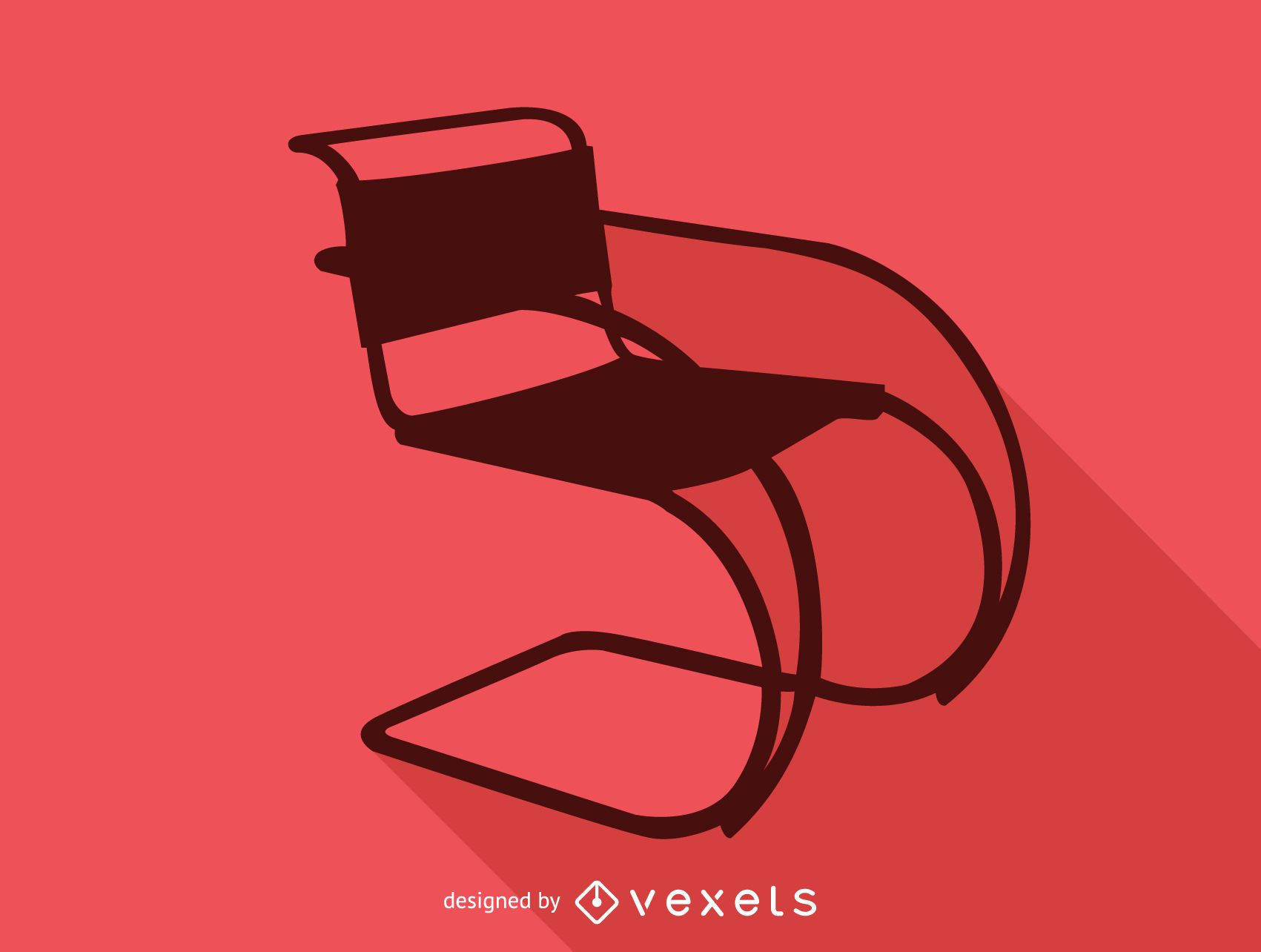 mr 20 cantilever chair silhouette