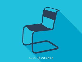 Silhueta de cadeira Marcel Breuer Spoleto