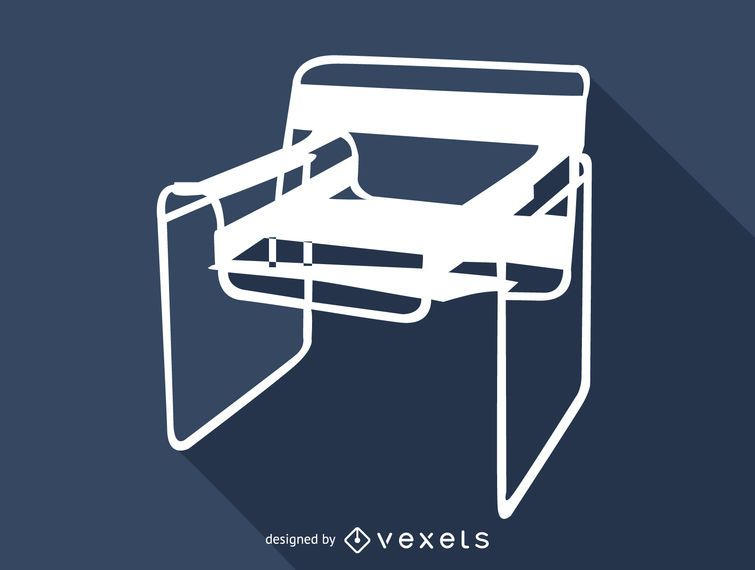 Marcel Breuer Wassily chair silhouette