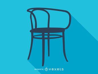 Silhueta de cadeira Otto Wagner Thonet
