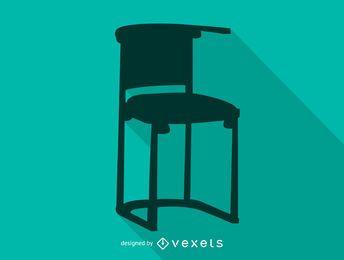 Icono de silueta de silla de Josef Hoffman