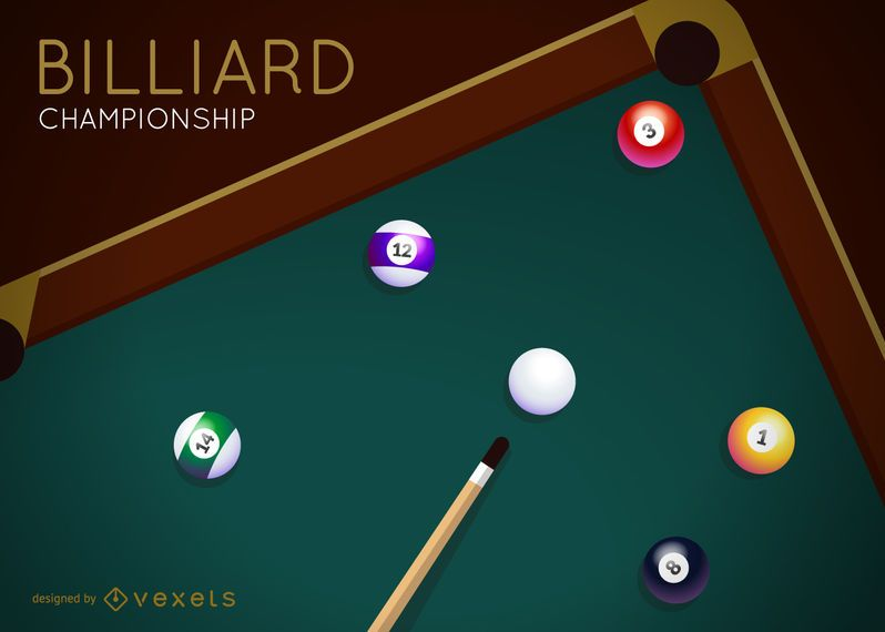 Billiard championship vector