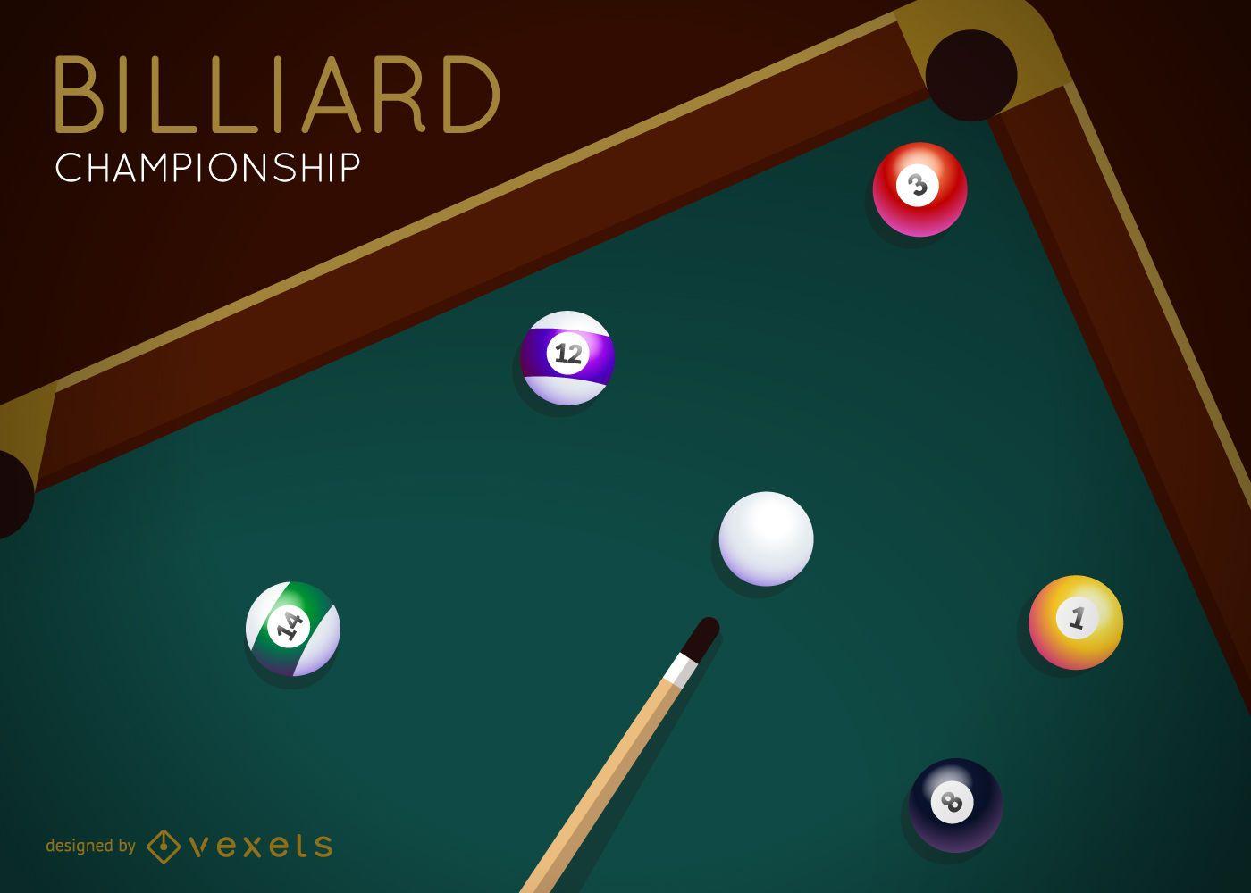 Billiard championship vector