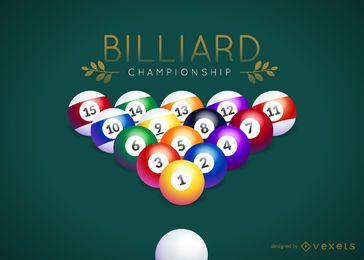Logotipo del campeonato de billar