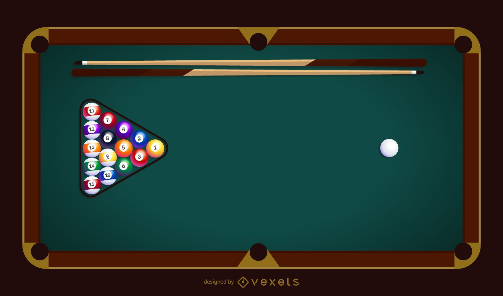 Billiard table vector illustration