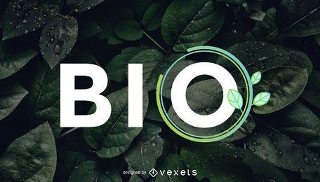 Design de logotipo saudável bio