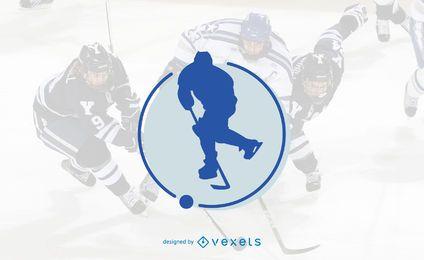Diseño de plantilla de logotipo de hockey